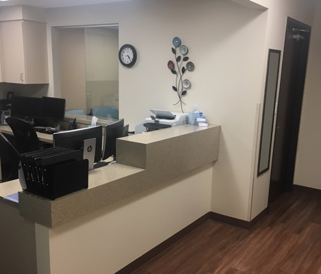 Receptionist Area at KC CORE - Plano